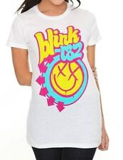 Blink-182 T-Shirt Bright Smiley Logo pop punk rock fitted tee Tunic XL only NWT