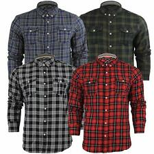Mens Shirt Long Sleeved Checked T Brave Soul Casual Top Collared S-XL New