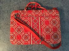 Vera Bradley Paprika Laptop Portfolio Hard Case with Strap