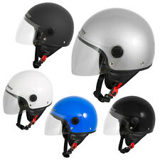 Motorcycle Open Face Classic Jet Helmet  Scooter Clear Visor SonicMoto