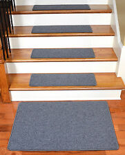 Dean DIY Carpet Stair Treads w/Landing Mat - Steel Gray (13) Choose Your Size