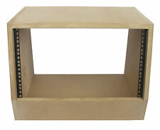 "6u angled 19"" inch wooden rack unit/case/cabinet for studio/DJ/recording/audio"