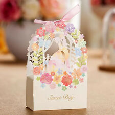 New Wedding Favor Candy Box Wedding Party Favor Bags Ribbon Candy Gift Box AB