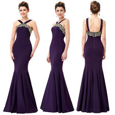 Halter Sexy Dressses Ball Gown Dress Evening Party Long Mermaid Maxi Formal Prom