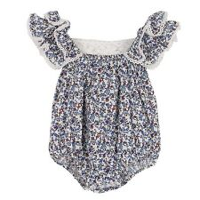 Kids Infant Baby Girl Summer Short Jumpsuit Floral Bodysuit Romper Clothes