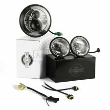 """Advan Black Harley Chrome 7"""" LED Daymaker Headlight Auxiliary Passing Lamps"""