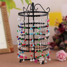 144 Holes Earrings Ear Jewelry Metal Rotating Display Stand Holder Show Rack New