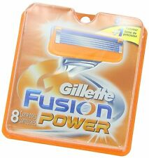 2 Package 8 Replacement Men Shaving Razor Blade Blades Gillette Fusion Power