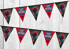Spider Man Bunting, Banner, Personalised Birthday, Bedroom Decoration, Party.