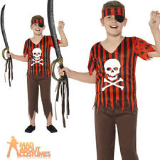 Child Jolly Roger Pirate Costume Boys Buccaneer Book Week Fancy Dress Outfit New