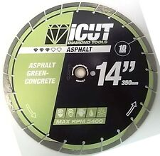 Asphalt Diamond Blade w/Undercut Protection Green Concrete Asphalt FREE SHIPPING