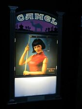 2001 Camel Cigarette Lighted Bar Sign With Sexy Pin Up Girl Rare Vintage Style