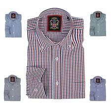 Long Sleeve Shirt Janeo British Apparel,Mens Casual Fit Oxford Check Button Down
