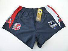 """NRL SYDNEY ROOSTERS AWAY """"TELSTRA LOGO"""" SUPPORTER SHORTS - BRAND NEW"""