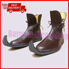 Enlarge Medieval Leather Shoes Armor Sca Re-enactors Fancy Pirate Ankle Shoes b