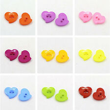 100pcs Acrylic Buttons Plastic Sewing for Clothes 2-Hole Dyed Multicolor DIY new