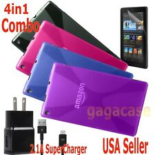 4in1 Amazon 2015 Kindle Fire HD 10 Case Cover + Power Adapter + Screen Protector