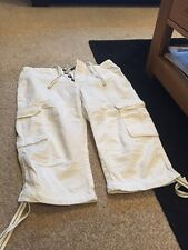 Men's White Linen 3/5 shorts, PRIMARK, W 30, Tags Removed But Never Worn