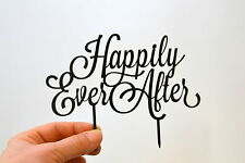 Cake Topper Happily Ever After black Wedding Cake Toppers