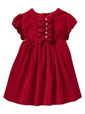 NWT Baby Girl Sizes 6 12 18 Months Gap Red Corduroy Special Occasion Dress