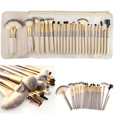Pro 24pcs Soft Cosmetic Makeup Tool Eyeshadow Powder Blush Brush Set + Pouch Bag