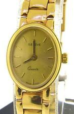 VINTAGE LADIES GENEVE 14 KT SOLID YELLOW GOLD WORKING WRIST WATCH
