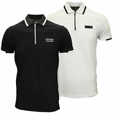 Foray Mens Designer Branded Pique Collar Plastisol Trim Polo Shirt, BNWT