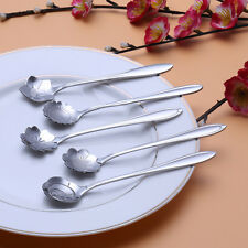 Lover Stylist Stainless Measuring Cherry blossoms Spoon Tea Fashion Coffee Spoon