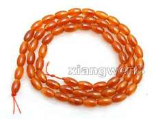"""SALE Small 4*6mm Olivary shape Natural Red agate Loose Beads strand 15"""" -los675"""