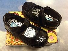 Rachel Girls Dana Black Patent V Mary Janes Dress Shoe Toddler Size 7.5, 8