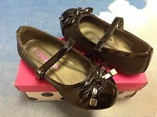 Josmo Girls 30036 Black Glitter V Closure Dress Shoe Toddler Size 5, 7