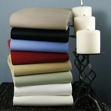 Super Quality 4 pc Sheet Set 1000 TC Egyptian Cotton All Solid Colors-Full-XL