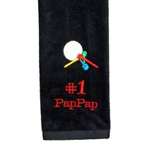 Personalized Golf Towel, PapPap Golf Towel, Personalize With Any Name, AGift 737