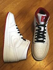 Mens NIKE Air Jordan 1 MID White Gym Red Black Basketball Sneakers Shoes Jordans