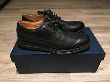 Cole Haan LunarGrand Long Wing Tip Leather Black Men's C13737 Brand New In Box