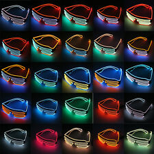 LED Glasses Light Up Shades Flashing Rave Festival Party Glasses UE