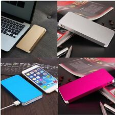 Ultrathin Dual USB Battery External Power Bank Backup Charger For Cell Phone ~