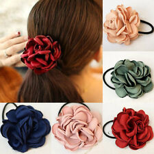 Dainty Women Girls Hair Bands Rose Flower String Scrunchie Hair Accessories Gift