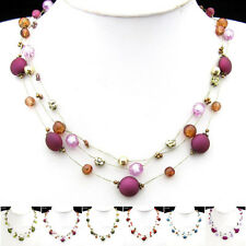 Special Offer, Frosted Cherry Silk Thread Necklace Bracelet Earrings