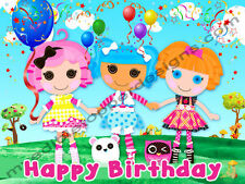 Lalaloopsy Personalized Edible Image Premium Cake Topper Frosting Sheet 4 Sizes