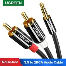 Ugreen 3.5mm To RCA Male Y Cable Stereo Audio Jack Plug Adapter Gold Plated 2RCA