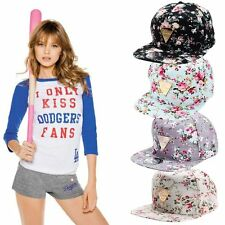 Fashion Floral Snapback Hip-Hop Hat Flat Adjustable Baseball Cap UE