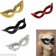 Sequin Mask Catwoman Sequin Masquerade Eye Face Mask Fancy Dress Party Accessory