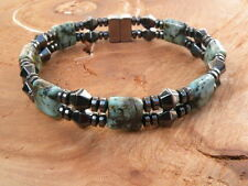 Mens Magnetic Hematite African Turquoise Bracelet Anklet SUPER POWERFUL