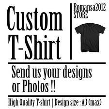 Custom T-Shirt Your Own Image Photo Design Personalised Using DTG Printing