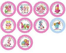 Personalised SHOPKINS Self Adhesive Glossy Labels/Stickers