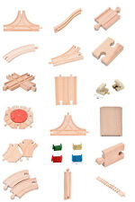 LOT of Wooden Train Brio Compatible Assorted Track Wood Pieces Kid Toys  FOUS
