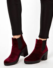 ASOS ABSOLUTE Chelsea Ankle Boots in Red new in box UK Size 3,4,5.6, 7 & 8