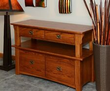 Lateral Filing Cabinet Solid Oak 2 tier Mission Style #147