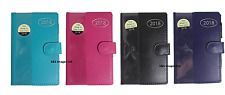 2018 Leather Slim Size Diary Week To View personal Organiser Address Book & Pen
